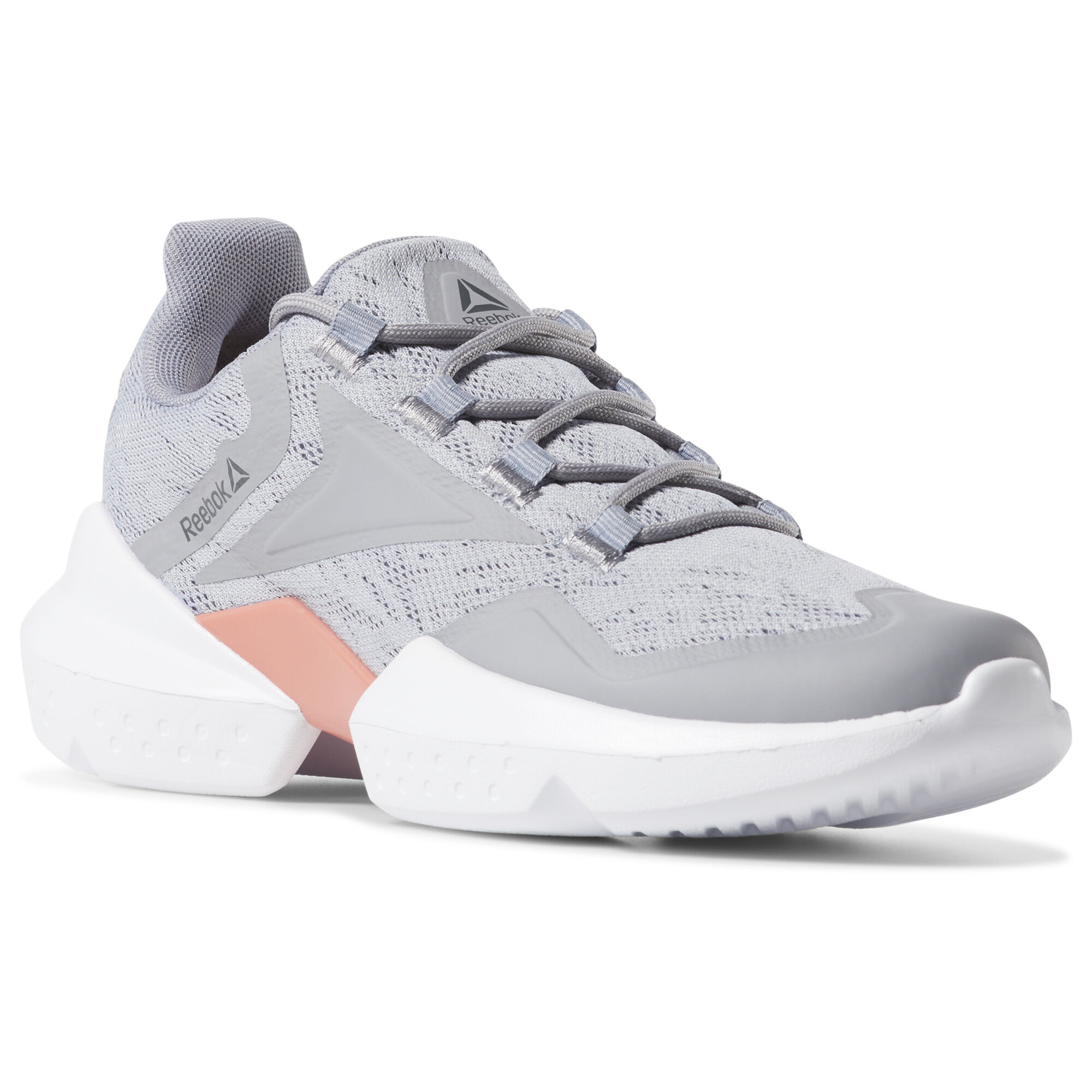 Reebok Shoes Women's Split Fuel Shoes in Cool Shadow/Pink/Grey Size 6 - Lifestyle,Running Shoes