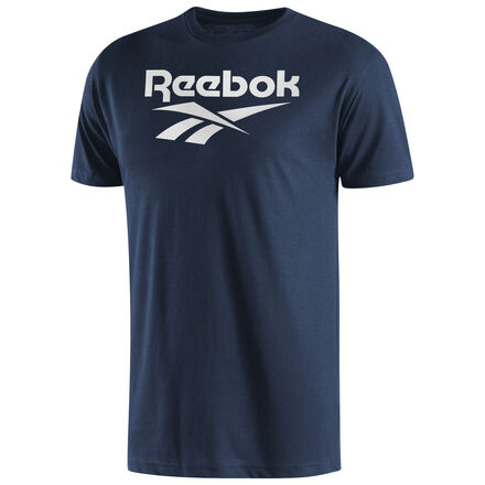 Kick back in this casual tee and celebrate Reebok\'s vintage heritage with a classic vector logo tee Material: 60% Cotton, 40% Polyester Crew neck Set-in Collar 1x1 CVC Baby Rib Imported