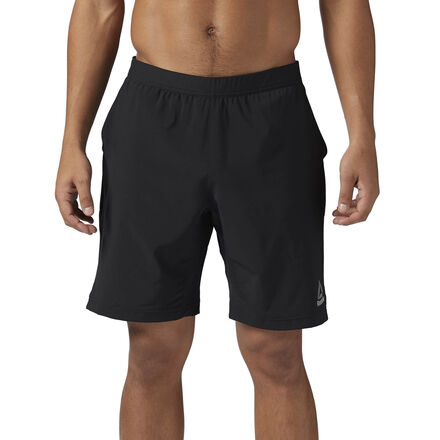 Take any workout to the next level with these versatile men\'s Speed Shorts. Speedwick moisture-wicking tech pulls sweat from the skin. An elastic waistband secures a comfortable fit, with a drawcord to adjust it just how you like it. Lightweight 4-way stretch fabric and side slits maximize mobility during whatever movements your workout throws your way. The side hand pockets let you carry small items to and from the gym, and let you transition easily from gym to the street. Designed for: Versatile workouts Fit: Regular fit Speedwick technology wicks sweat away from the body to help you stay cool and dry Elasticated waistband and drawcord for a custom fit Zoned gusset Hand pockets Material: 86% Polyester / 14% Elastane