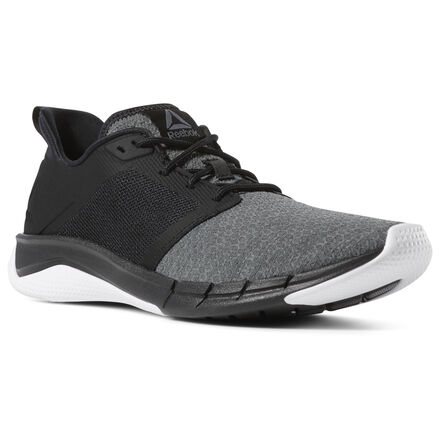 Comfort and performance come together in this men\'s high-performance sneaker. This shoe utilizes precision cushioning and stretchy materials, so your feet are free to move naturally. The carbon rubber trim will give you extra traction, while the outer rim will give you support, so you can make the most of your varied workouts. Materials: Textile upper for comfort and breathability Best for: Bootcamp classes, training, high-impact workouts, and speed training 4-way stretch material in the forefoot for a casual lifestyle feel Features precise cushioning and unique foot-shaped central zone made for comfort and support Midsole and outsole use dual-density construction and proprietary 3D foam compounds Outer rim adds support and abrasion resistance Carbon rubber rim in the toe and heel provides lightweight traction where it\'s needed most