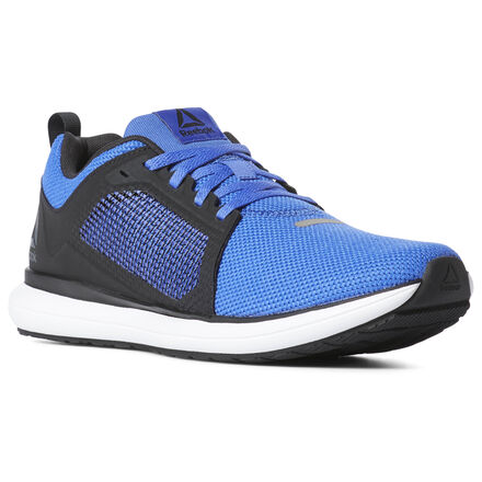 This men\'s running shoe is ready to help you go mile after mile. While you pound pavement, a high abrasion rubber outsole helps give you grip. Plus, the molded sockliner helps offer comfort and cushion with each stride. Materials: Breathable, lightweight mesh upper for airflow Designed for: Running, cardio workouts Low-cut design for freedom of motion at the ankles Molded sockliner for comfort, cushioning, and durability High abrasion rubber outsole adds durable responsiveness Strategically placed Flexweave Technology\'s innovative figure-eight weave allows for a dynamic upper with targeted support for however you perform Imported