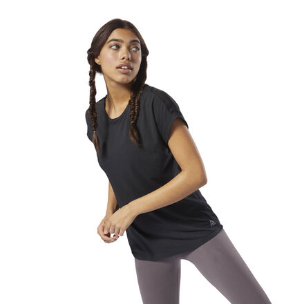 Mix up your gym tee rotation with this women\'s T-shirt made with Speedwick technology. A mesh panel at the back aids airflow while you work out. Layer this top with your favorite sports bra and bold leggings for an easy gym-to-lunch look. Fabric: Modal jersey fabric for soft comfort Designed for: Running, training workouts, warm weather Fit: Regular fit Speedwick technology wicks sweat away from the body to help you stay cool and dry Polyester mesh back for ventilation and breathability Imported