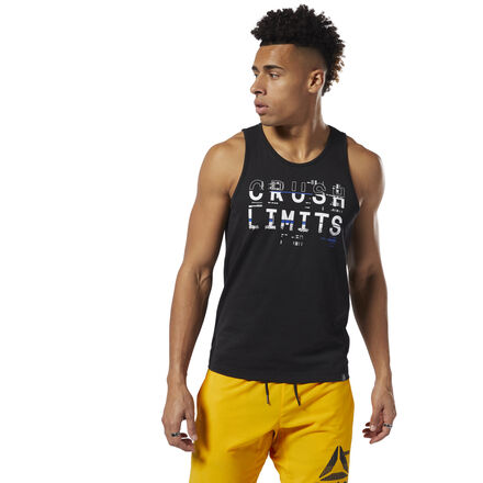 Crush your limits. This men\'s lightweight tank top is made of stretchy cotton for a full range of motion. The slim fit moves with your body as you power through reps. 100% cotton single jersey Slim fit We partner with the Better Cotton Initiative to improve cotton farming globally Imported