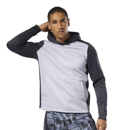 Warm up. Work out. Cool down. This men\'s training hoodie is made to keep you warm without overheating. Moisture-wicking fabric provides dry comfort in or out of the gym, while elastic at the cuffs offers a stay-put fit. 100% polyester doubleknit Slim fit Speedwick fabric wicks sweat to help you stay cool and dry Elastic trim helps keep cuffs in place Hand pockets for essentials Imported