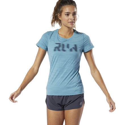 Have pride in your tribe. A motion-blur graphic sits boldly on the front of this women\'s short sleeve tee. It\'s made with ACTIVCHILL and Speedwick for enhanced breathability and sweat-wicking comfort. Reflective details add visibility in low light. 88% nylon / 12% spandex single jersey Designed for: Running Slim fit Speedwick fabric wicks sweat to help you stay cool and dry Breathable ACTIVCHILL fabric helps you stay cool, no matter the conditions Reflective details for added low-light visibility Imported