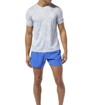 Built for endurance and speed, these men\'s running shorts are made of sweat-wicking fabric to keep you cool and dry for every mile. A drawcord at the waist offers a secure fit as you raise your intensity. Reflective details add visibility during low-lit runs on the trail or in the city. 100% polyester plain weave Designed for: Running Regular fit Speedwick fabric wicks sweat to help you stay cool and dry Reflective details for added low-light visibility Drawcord on waist for an adjustable, secure fit 5\