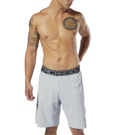 A classic look built for the modern fighter. These men\'s boxing shorts are built upon a championship legacy. The lightweight shorts are made of sweat-wicking fabric to keep fighters cool and dry during long hours in the ring or the cage. The elastic waistband offers a secure fit, while side hem slits provide free and easy movement. The slim fit keeps it snug and sleek. 85% polyester / 15% spandex plain weave Designed for: Boxing Slim fit Speedwick fabric wicks sweat to help you stay cool and dry; Durable water-repellent finish helps keep outer fabric from getting saturated with moisture Hidden zip pocket for essentials Elastic waist for a secure fit; High side hem slits for easy movement 9\