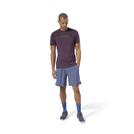 Our newest sweat-wicking fabric is now softer than ever for a next-to-skin feel you\'ll love. Plus, its fibers work to pull wetness away from the skin while you\'re pushing through reps, allowing you to keep your focus on the WOD at hand. A tried-and-true Forging Elite Fitness read on the front is part of what makes this an essential CrossFit tee. This season, we\'ve dropped the flag from the smaller sleeve logo for a global-minded update to this versatile wardrobe staple. Best for: Warm-weather WODs, training versatility, wicking away sweat Fit: Slim - skims the body for comfort and freedom of motion during exercise Speedwick technology wicks sweat away from the body to help you stay cool and dry CrossFit Forging Elite Fitness slogan on the front Fabric: 100% Polyester, single jersey fabric for a soft feel Imported
