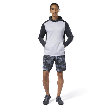 Power through squats and lunges. These men\'s training shorts are made with Speedwick fabric that manages heat and moisture. Side slits and an inner-leg gusset offer easy mobility, and a zip pocket lets you keep your essentials close. 100% polyester plain weave Designed for: Training Regular fit Speedwick fabric wicks sweat to help you stay cool and dry Side slits and inner-leg gusset allow unrestricted freedom of movement Drawcord on waist for adjustability; Functional fly closure; Zip stash pocket on hip for essentials 10\