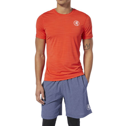 We designed this men\'s workout shirt with CrossFit athlete Rich Froning Jr. using his favorite tee material, ACTIVCHILL fabric. A mesh back helps with breathability as you keep your pace, while batwing sleeve construction aids mobility for functional movements. Imported