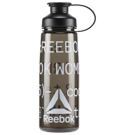 Stay hydrated when the temperature skyrockets. Made for uncompromising CrossFit athletes, this water bottle features a screw top that makes it easy to open and fill quickly. The graphic celebrates women who CrossFit. 100% plastic Volume: 750 mL Screw top for quick filling Reebok graphics Imported