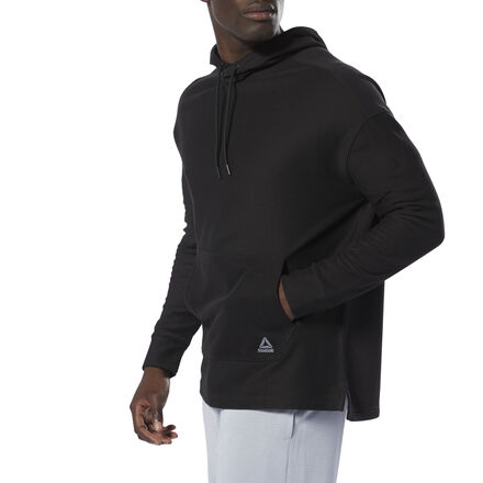 Clean and classic gets upgraded. This men\'s hoodie is made of soft French terry and cut in a relaxed fit. The long length provides extra coverage, and a drop shoulder seam gives the sweatshirt a touch of modern style. 100% cotton French terry Relaxed fit Drawcord on hood for adjustability Drop shoulder seam for a casual, relaxed look Kangaroo pocket for essentials; Long length for style and coverage We partner with the Better Cotton Initiative to improve cotton farming globally Imported