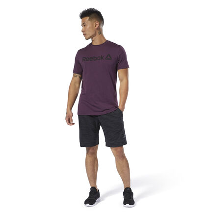 Year-round comfort. These men\'s slim-fit shorts are made of soft French terry for all-season wear. They have an adjustable waist that lets you get a custom fit. The striking look of textured marble m�lange gives them a stylish touch. 70% cotton / 30% polyester French terry Slim fit Drawcord on waist for adjustability Hand pockets for essentials Marble m�lange texture adds visual interest We partner with the Better Cotton Initiative to improve cotton farming globally Imported