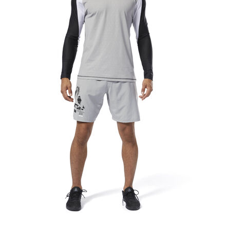 Go-to gear for your toughest training. These men\'s shorts feature lightweight fabric for live-in comfort. The cordlock waist adjusts for a custom fit as the session intensifies. 100% polyester plain weave Designed for: High-intensity training Regular fit Cordlock-adjustable waist for custom fit Hand pockets for essentials Imported