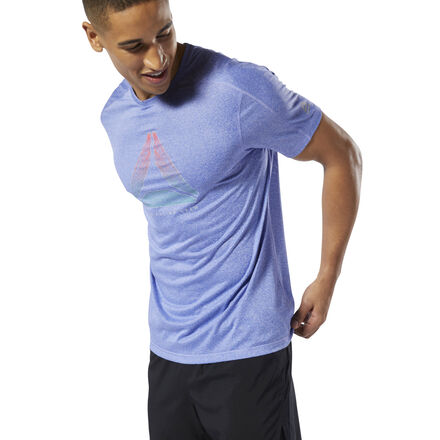 For the runner who is always on the go. This men\'s slim-fitting crewneck t-shirt is made with Speedwick fabric that moves sweat away from your skin. A reflective logo on the front flashes Reebok style. 100% polyester single jersey Designed for: Running Slim fit Speedwick fabric wicks sweat to help you stay cool and dry Reflective details for added low-light visibility Imported