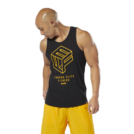 Strive for greatness. This men\'s tank top flashes a standout 3-D graphic that keeps you going all day. A slim fit gives it a sleek look. 60% cotton / 40% polyester single jersey Slim fit Crewneck Sleeveless \