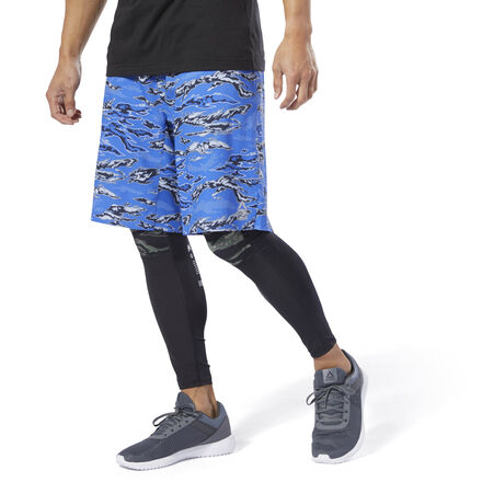 These men\'s shorts are made of lightweight woven fabric with a water-repellent coating so they won\'t get soaked no matter how much you sweat on that AMRAP. The drawcord-adjustable waist locks down the fit without bulk or bunching. 87% polyester / 13% spandex plain weave Designed for: Any workout Slim fit Drawcord on waist for adjustability; Cordlock closure provides ideal fit without any bulk Stash pocket for essentials DWR durable water-repellent finish helps keep outer fabric from getting saturated with moisture 10\