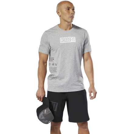 CrossFitter and proud of it. This men\'s t-shirt is built to handle the toughest WODs. It\'s made with Speedwick fabric that sweeps moisture away from your skin. Batwing sleeves give you room to move on the overhead press or pull-ups. The tee is cut slim for a distraction-free fit. 65% polyester / 35% cotton single jersey Designed for: Versatile performance Slim fit; CrossFit-specific fit Speedwick fabric wicks sweat to help you stay cool and dry Batwing silhouette for added mobility Soft-hand fabric for comfort We partner with the Better Cotton Initiative to improve cotton farming globally