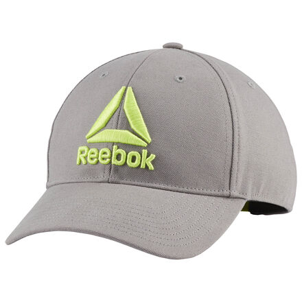 Power through your workout in Reebok style. This training hat is made of durable canvas for turning up the intensity on every rep. An adjustable snapback closure offers a custom fit. 100% cotton canvas Adjustable snapback closure Oversize Reebok graphic Imported