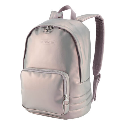 Iridescent PU Leather and adjustable straps amps up the style on this Classic Backpack. Materials: 100% Polyurethane, faux leather fabric for lasting use Metallic pullers Best for: Everyday use, classic style Foam-padded straps adjust for a custom fit Metallic ring pullers Front pocket holds essentials Imported