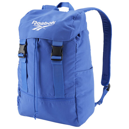 More than just stylish, this backpack locks down your gear with a secure buckle design. A zip pocket in front keeps small items easily accessible. An embroidered Reebok Vector logo flashes across the top. 100% polyester 17.5\