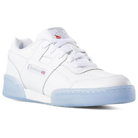 One of the top hits from the Reebok playlist, remastered for the younger set. These boys\' shoes have the authentic H-strap and durable toe and heel panels that took the \'80s workout world by storm. A lightweight cushioned midsole gives his feet all-day comfort. The durable iced outsole stands up to the rigors of the playground and adds a pop of color. Leather and synthetic upper for durability Designed for: Made for the gym in \'84, the Workout quickly found a new home as a streetwear staple and has held strong ever since. Removable EVA foam sock liner accommodates orthotics EVA midsole for lightweight cushioning Durable rubber outsole Imported