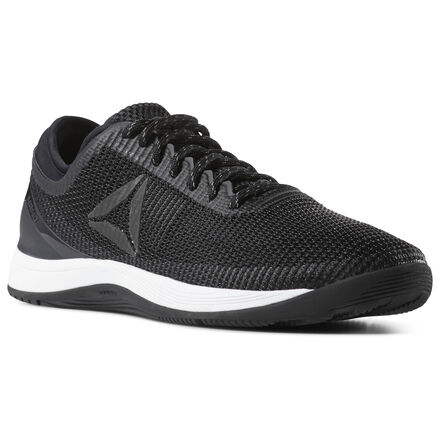 Since 2010, Reebok has forged the Nano through sweat, testing, re-designing and re-testing to create our most versatile and dependable CrossFit shoe in the box. The Nano 8 was developed with insight from the CrossFit community, and has been engineered for maximum comfort. The re-engineered Flexweave upper provides breathability, stability, and durability, and the added cushioning in the forefoot help keep you comfortable. The CrossFit-specific outsole gives you grip in the box so you can hit your PRs. Materials: Flexweave Technology weaves fibers into a figure-8 to create a strong, flexible upper Designed for: Varied CrossFit WODs New heel bootie construction provides ultimate performance comfort Forefoot flex grooves for flexibility Low-cut design for added mobility Toe Tection provides durability in the toe area for high intensity workouts Weight: 10oz; 4mm Drop
